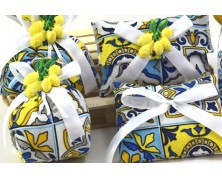Sacchetti portaconfetti in tessuto stile Vietrese