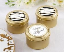 Portacaramelle dorate personalizzate - Design Nascita e Battesimo