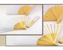 Ventagli in bamboo (Bianco)